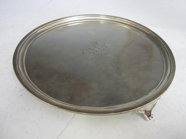 A George III silver salver, possibly by Prince & Cattles, York 1806,