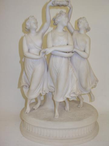 A Parian figure group of the Three Graces