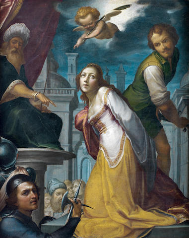 Paolo Guidotti, called Cavalier Borghese (Lucca 1560-1629 Rome) The Martyrdom of St Agnes