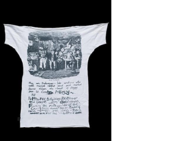 A 'Dickens' Sex Pistols T-shirt,