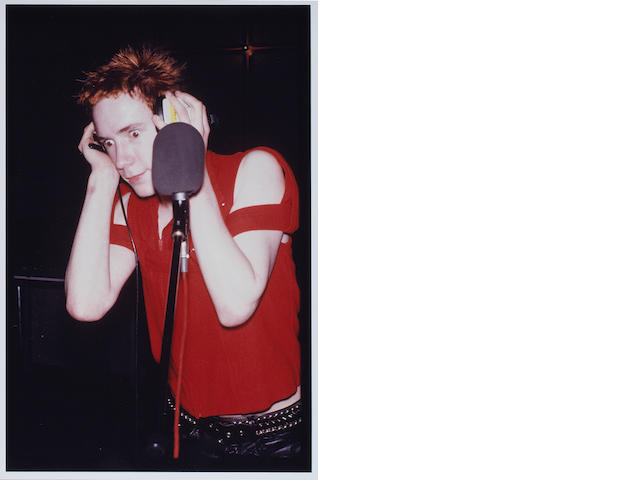 Ten colour photographs, believed unpublished, of Sex Pistols in the recording studio,