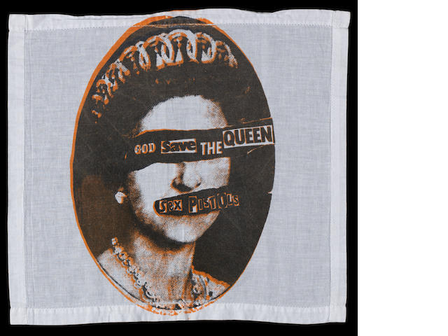 A Sex Pistols 'God Save The Queen, handkerchief,