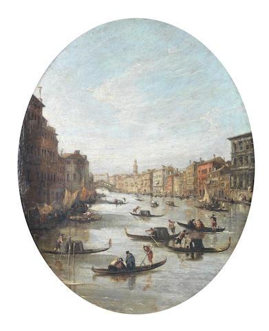 Italian School, 18th Century Santa Maria della Salute with Punta della Dogana behind, Venice;