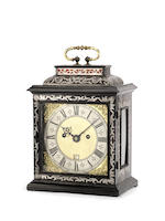 A fine and rare pewter-inlaid bracket clock Henry Jones in ye Temple