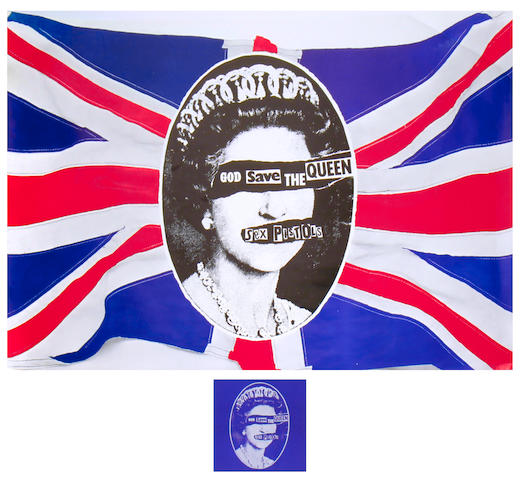 A Sex Pistols 'God Save The Queen' promo poster,