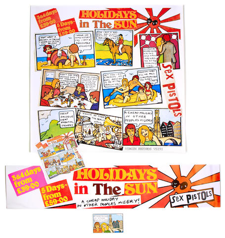 Sex Pistols: 'Holidays In The Sun' promo material,