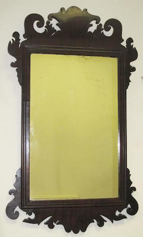 A George II-style mahogany fret mirror,