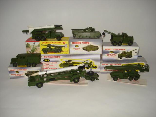 Dinky 666 Missile Erector vehicle, 667 Missile Servicing Platform vehicle 6