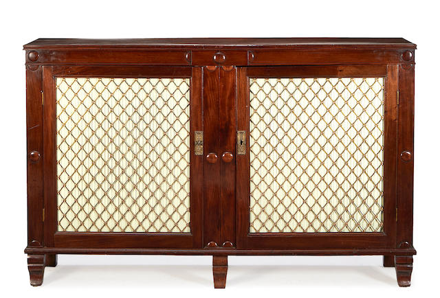 An early Victorian mahogany side cabinet