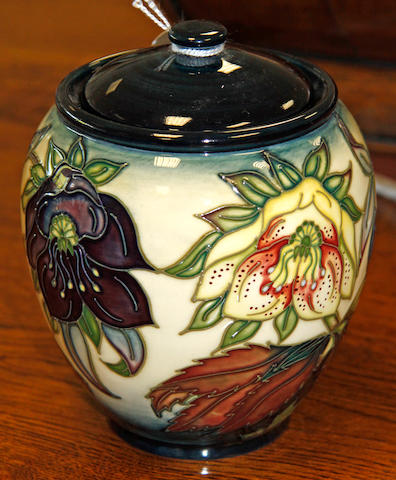A modern Moorcroft jar and cover dated '99