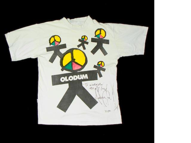 Michael Jackson: An autographed T-shirt,