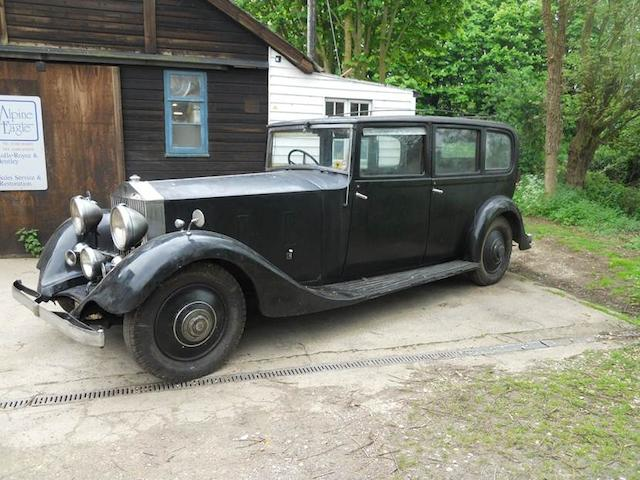 1934 Rolls-Royce 40/50hp Phantom II Limousine  Chassis no. 117SK Engine no. DK25