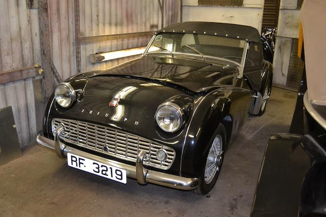 1957 Triumph TR3A Roadster  Chassis no. 5885088 Engine no. to be advised