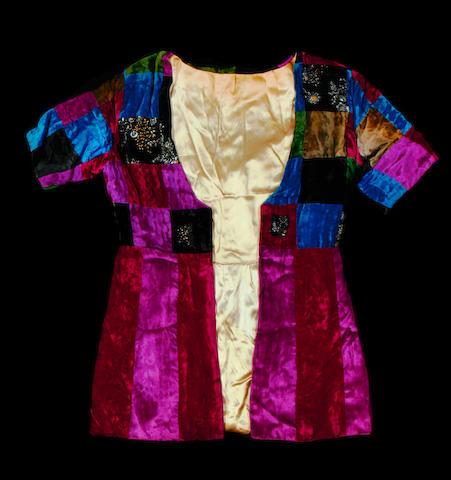 Pete Townshend: a velvet patchwork jacket,