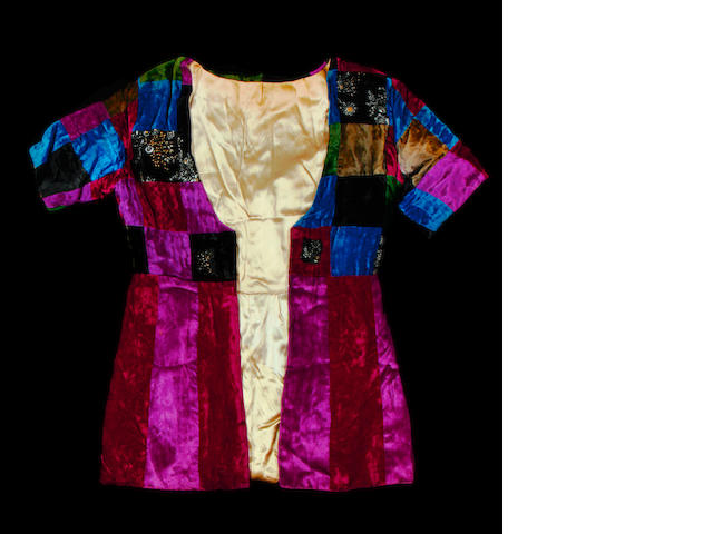 Pete Townshend: a velvet patchwork jacket,