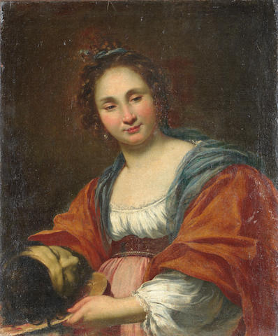 French School, 17th Century Salome with the head of Saint John the Baptist unframed