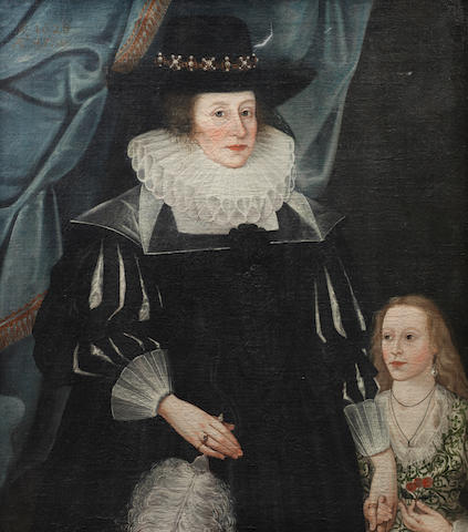 Circle of Edward Bower (active London circa 1635-1667) Portrait of Catherine Babington and her daughter Lucy,