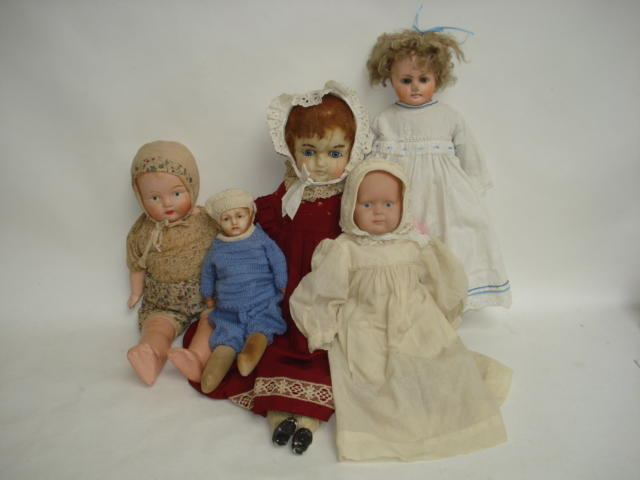 Wax over composition shoulder head doll 5