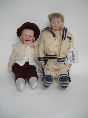 Heubach 7124 character bisque shoulder head doll 2