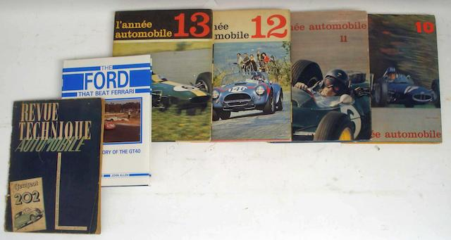 A run of l'annee automobile; volumes 10 to 13,