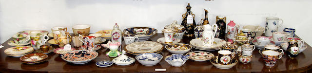 A collection of English porcelain wares