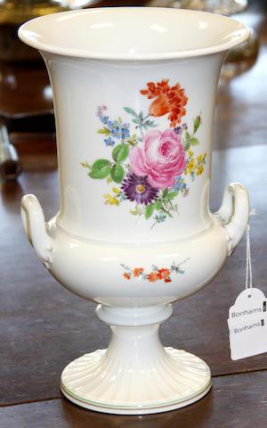 A Meissen campana form vase 20th Century