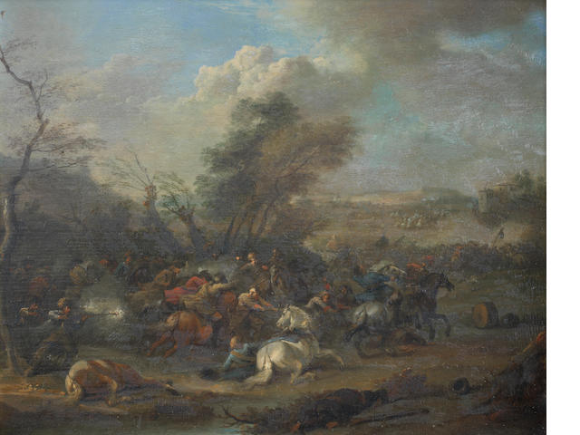 Karel Breydel, called le Cavalier d'Anvers (Antwerp 1678-1733) Two cavalry skirmishes