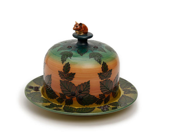 A Sally Tuffin for Dennis Chinaworks 'Mouse and Bramble' lidded cheese dish Dated 2008