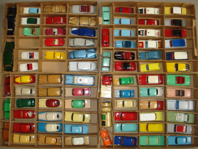 Collection of repainted Dinky toy cars approx 80
