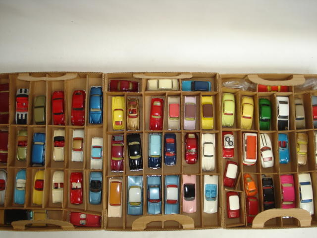Collection of repainted Corgi toy cars approx 60