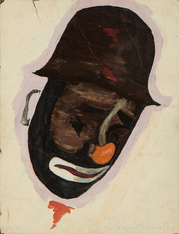 A painting of a clown, believed to be by Frank Sinatra,