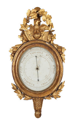 A 19th Century French carved gilt barometer
