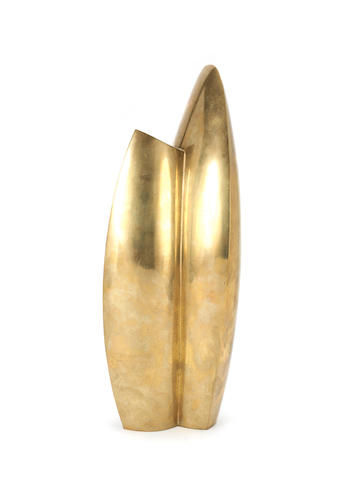 Karl Hartung (German, 1908-1967) Kleine Knospe Sculpture, 1946, bronze with gold patina, with inscribed signature on the base, height 480mm (18 7/8in)