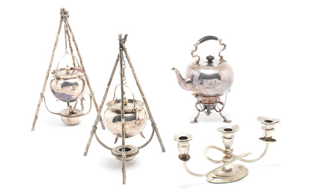 A group of plated wares from John and Cynthia Lennon's home, 'Kenwood'