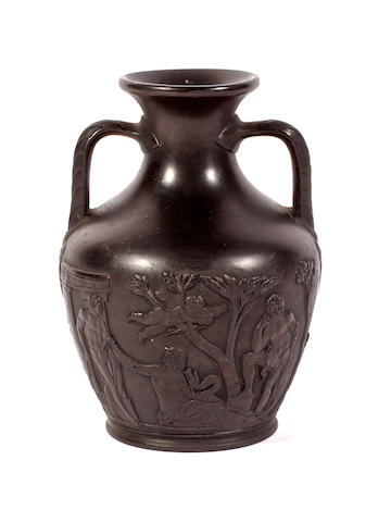 A Wedgwood basalt Portland vase, late 19th century