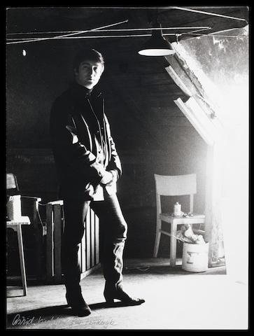 A photograph of John Lennon by Astrid Kirchherr,
