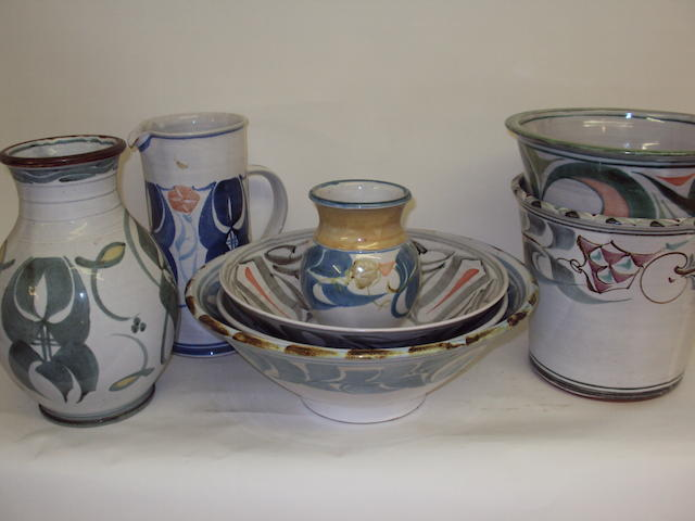 A small collection of Aldermaston tin-glazed pottery
