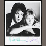 An autographed Paul & Linda McCartney black and white publicity photograph, 1970s,
