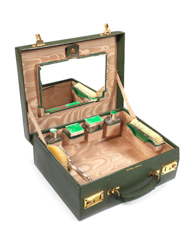 A travelling vanity case, by Asprey, London, the former property of Diana Barnato Walker,