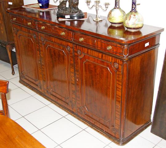 A Regency style mahogany sideboard,