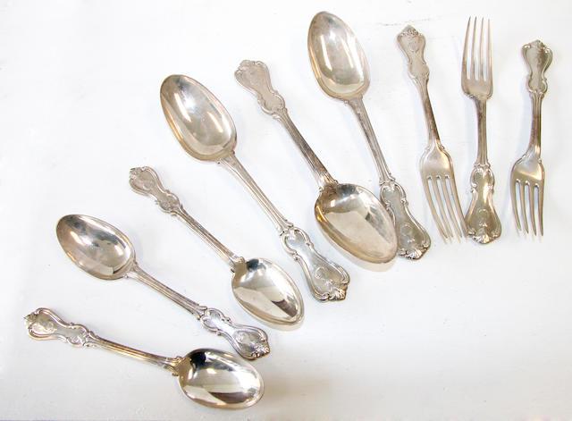 A quantity of silver flatware,