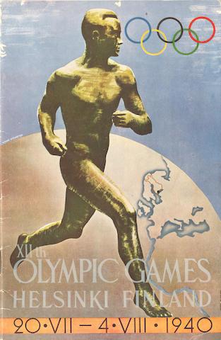 Ephemera - 1940 Cancelled Olympics