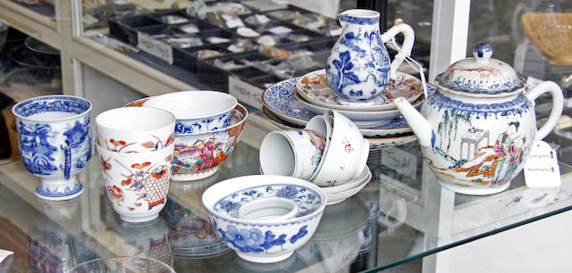 Assorted Chinese and Japanese ceramics 18th and 19th Century