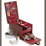 A fine Veteran cased picnic set for two persons, believed French,