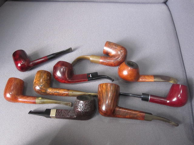 A collection of used pipe smoking pipes