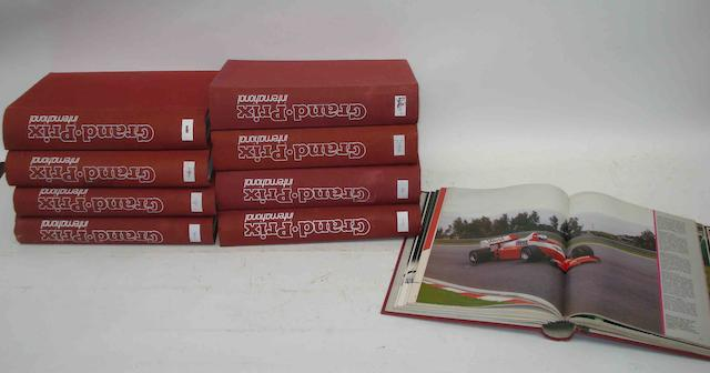 Grand Prix International Magazine, bound volumes, Vol.1 to Vol.9,