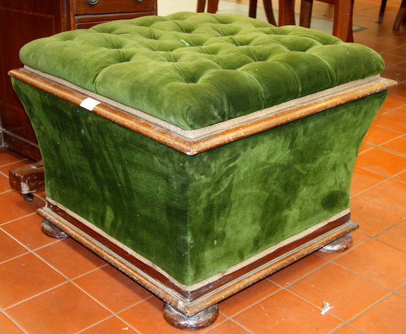 A Victorian upholstered box ottoman,