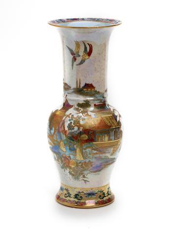 A Carlton Ware 'Mikado' pattern vase Circa 1920