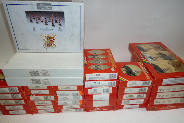 Britains Metal Models in original 'Red and Rainbow' boxes 194 in 36 sets