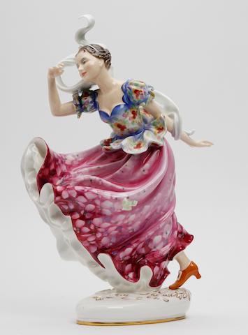Figurines A Royal Doulton figure, 'Columbine'